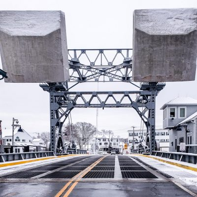 Bascule Bridge Snow